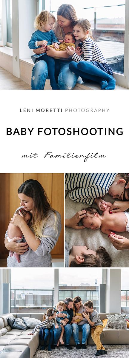 Baby-Fotoshooting mit Familienfilm © lenimoretti.com