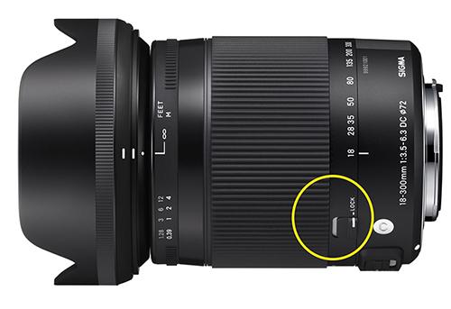Zoom-oder-Festbrennweite-Kamera-Lock