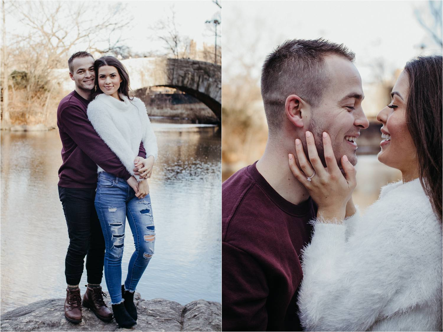 nyc winter engagement photos - winter engagement photos nyc - central park engagement photos - new york engagement photos - nyc engagement shoot