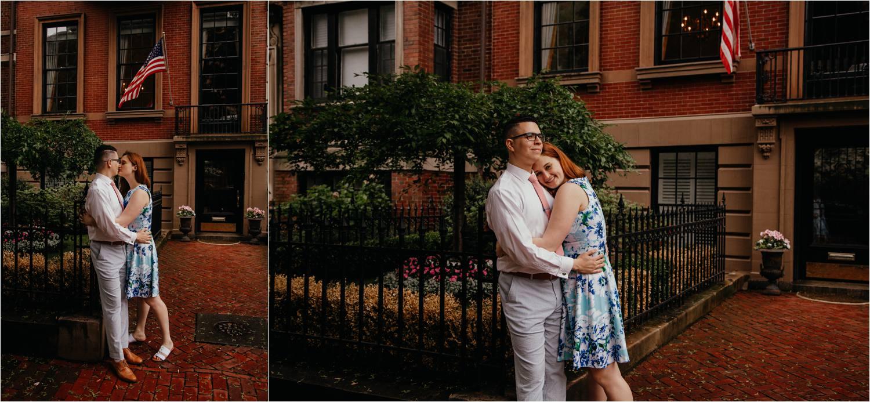 Boston public gardens engagement photos - boston engagement photographer - boston commons engagement photos