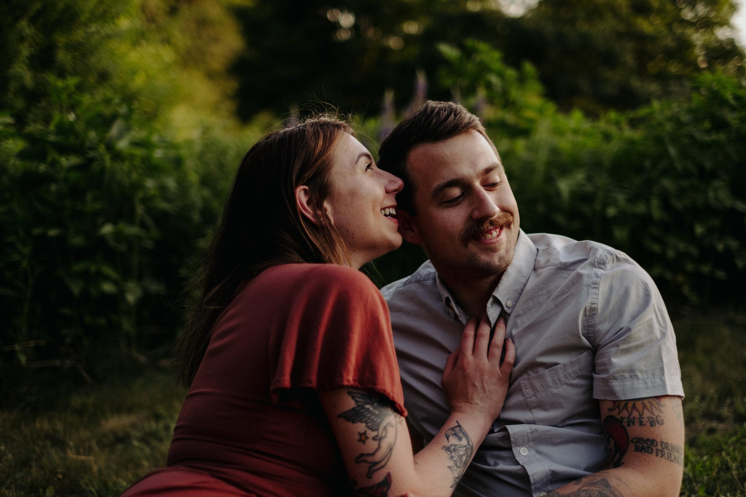 Great Brook Farm Carlisle MA Moody Love Session with tattooed couple