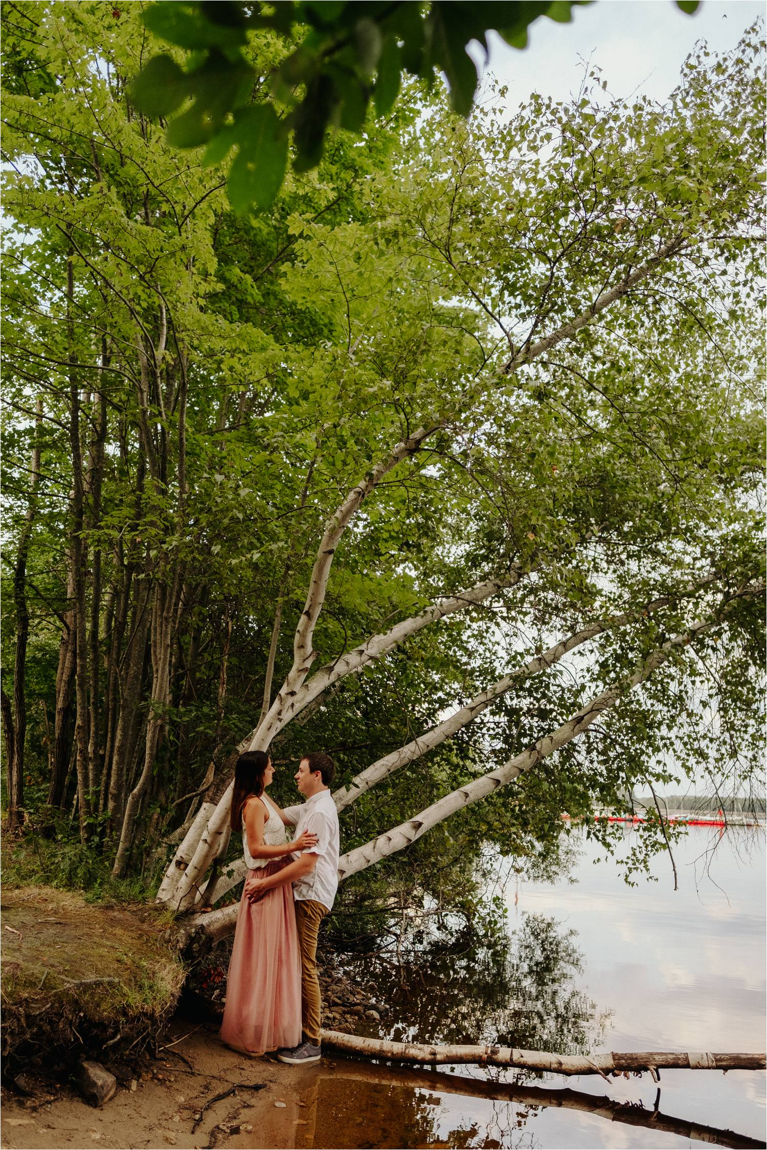 Summer Engagement Session Hopkinton State Park MA - Engagement Session in the woods - Jemima Richards