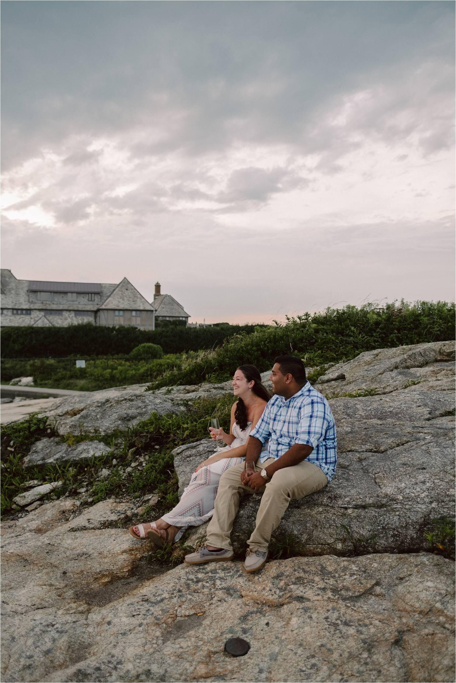 Newport Cliff Walk Proposal - Newport Rhode Island Proposal - Jemima Richards