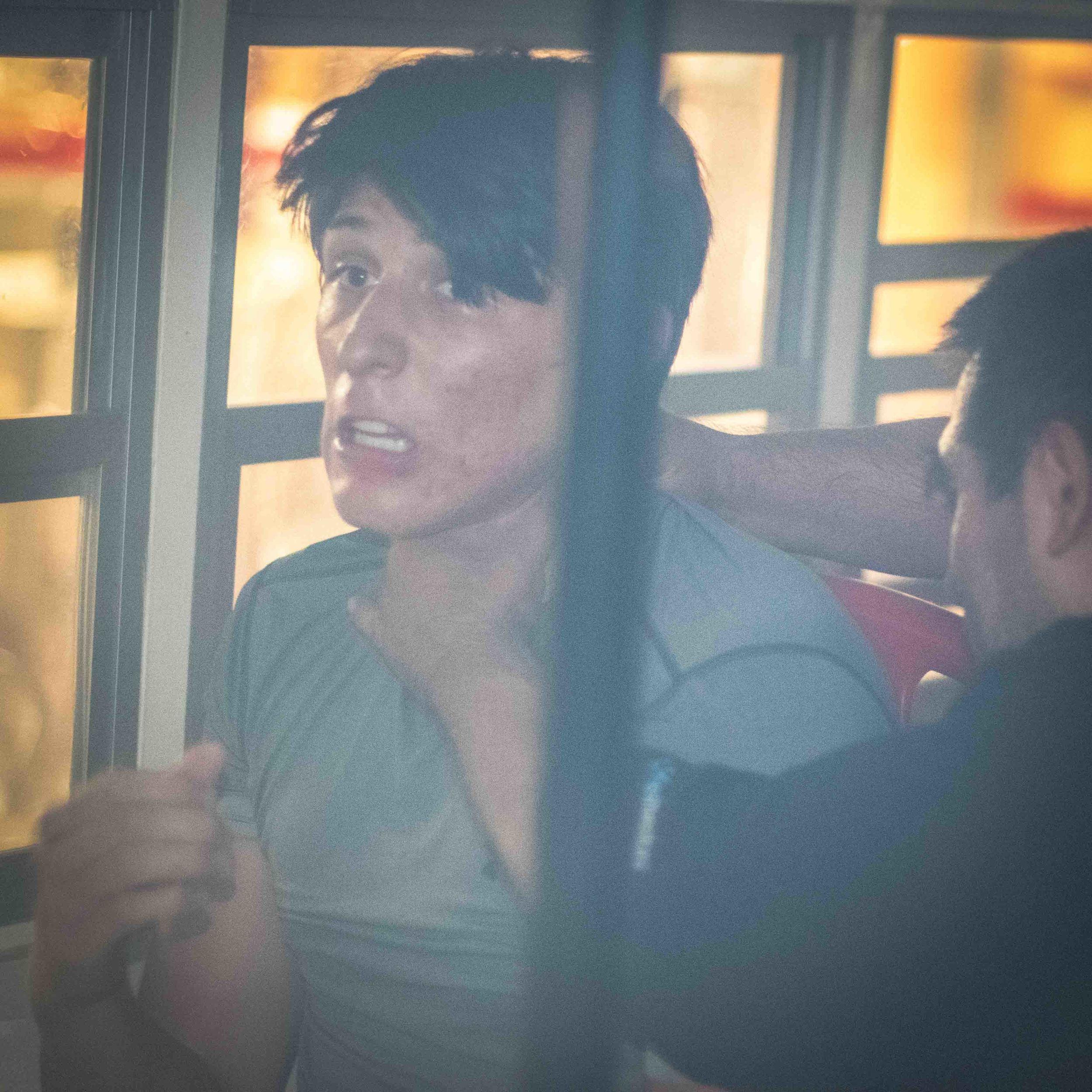 Estrangulamiento Lateral en Autobús