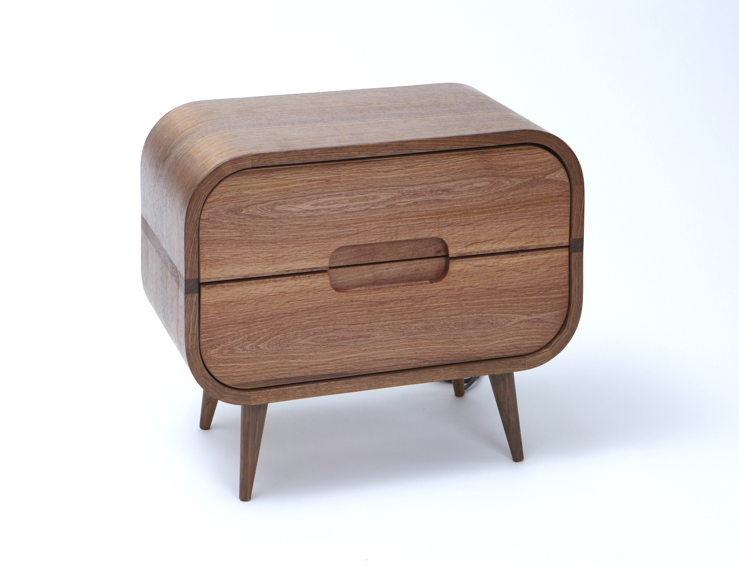 1950's inspired bedside cabinet made by Angus.