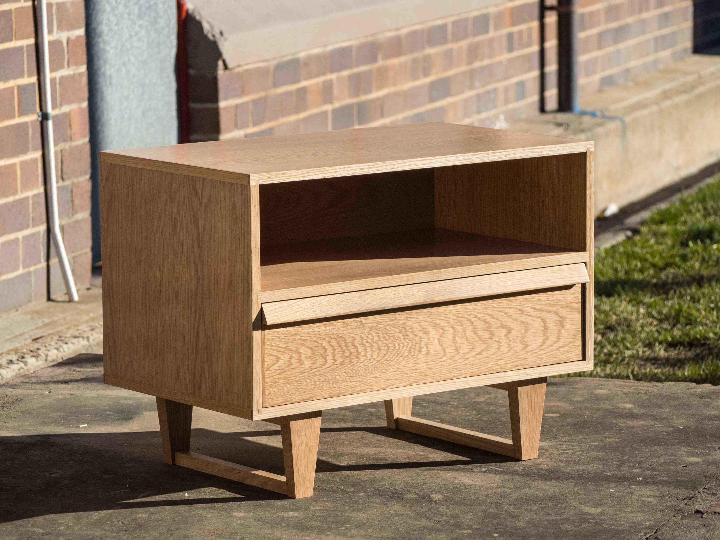 One of two fifties inspired bedside cabinets by Andy.