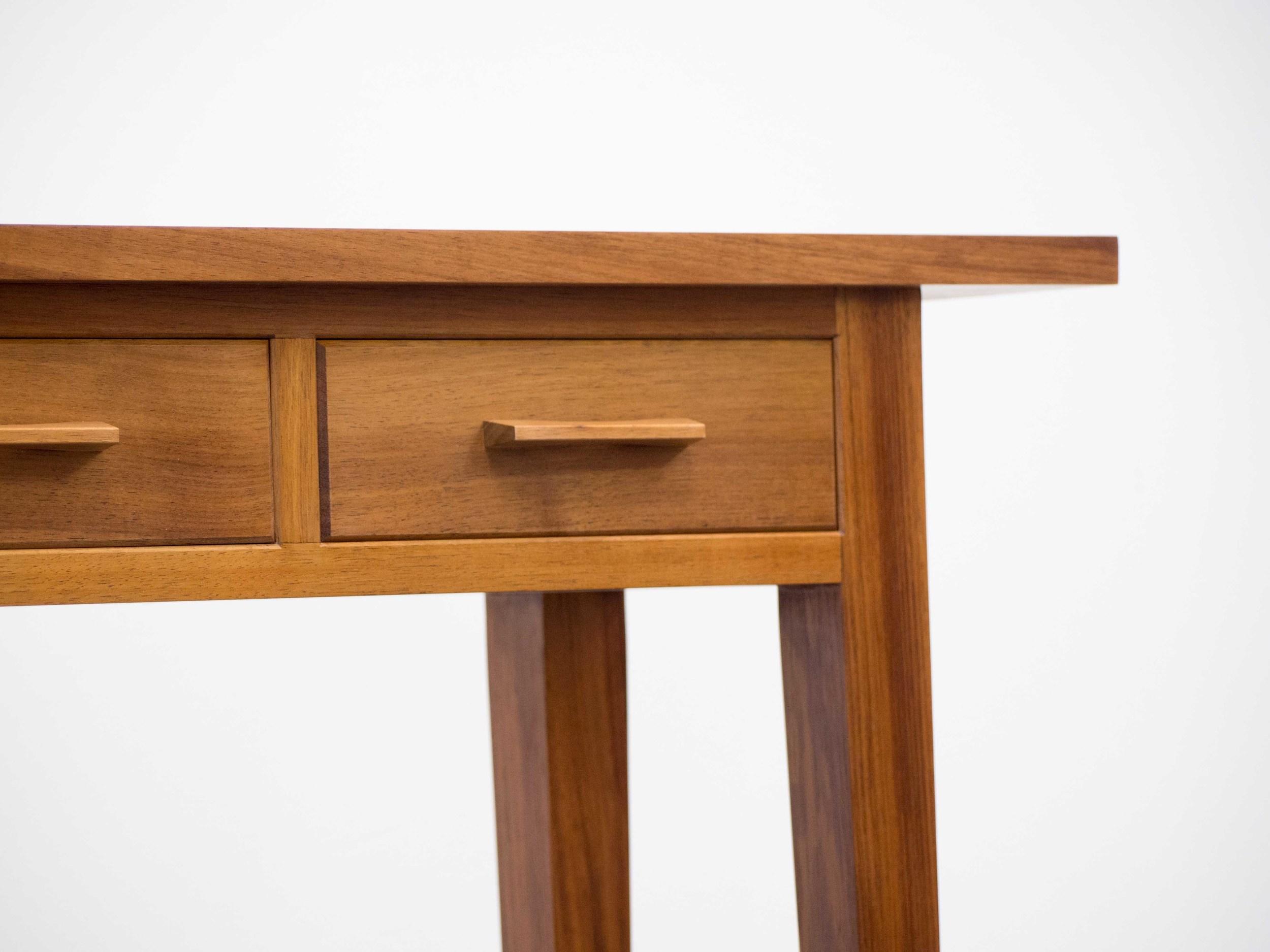 Natalie's hall table made with Tasmanian Blackwood.