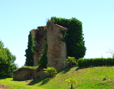 The original ruins in the gardens