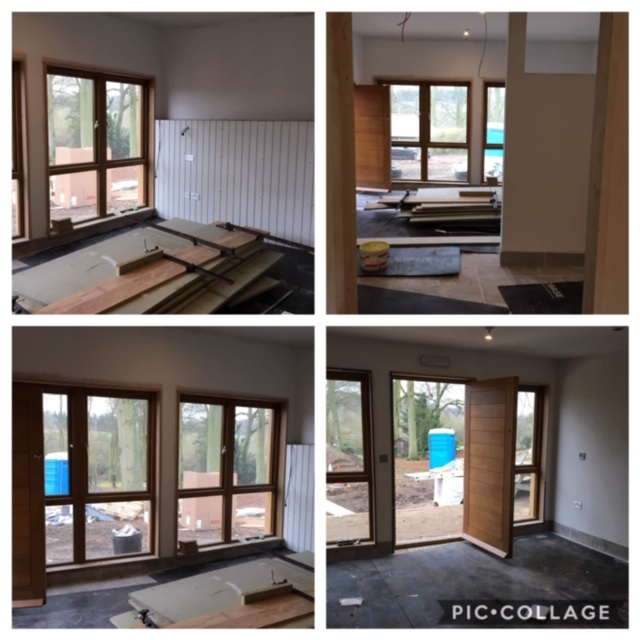 The rooms are taking shape, floors down, electrics in …..not long now!