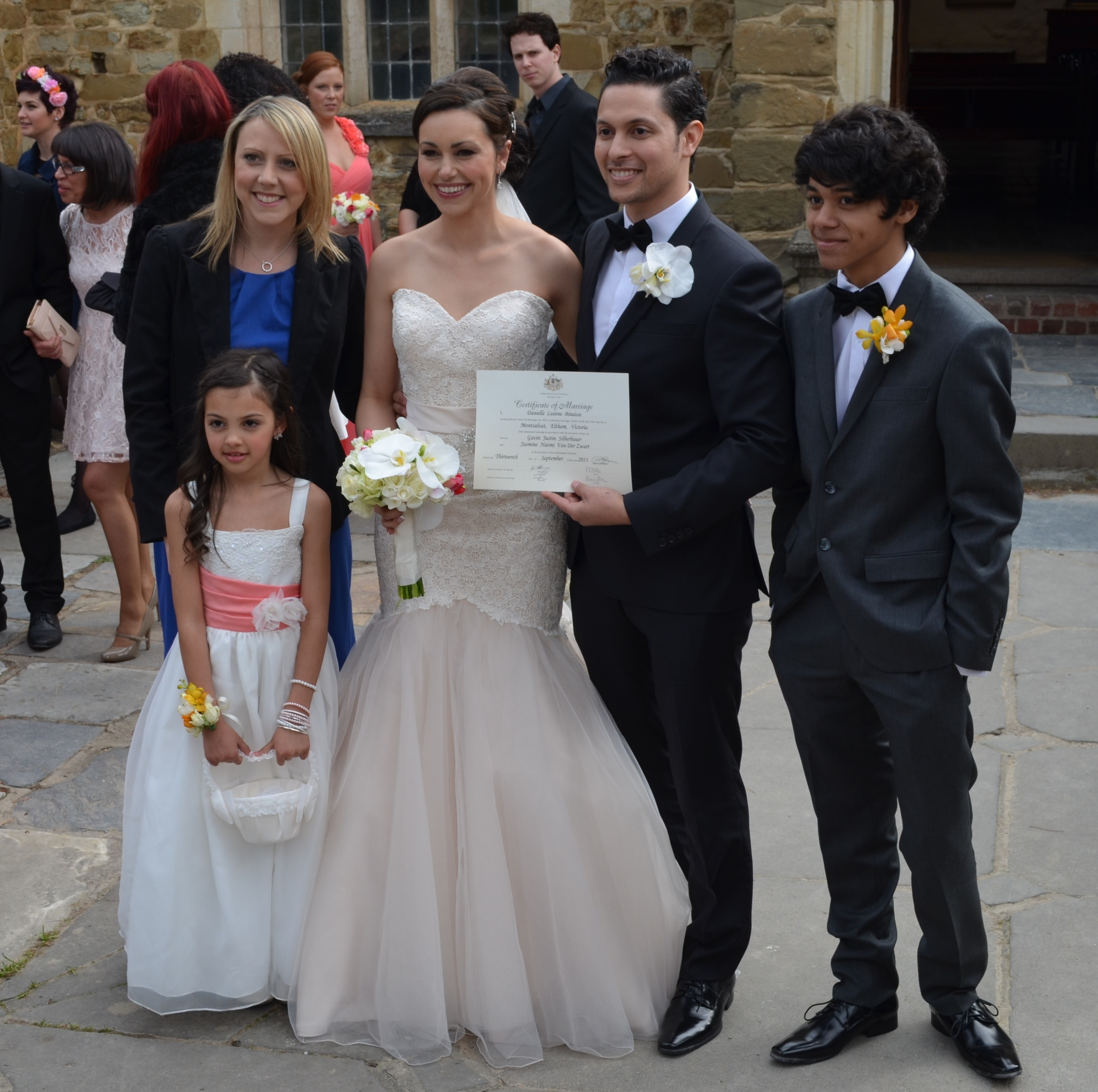 Jasmine & Gavin, Montsalvat, Eltham, 2013.