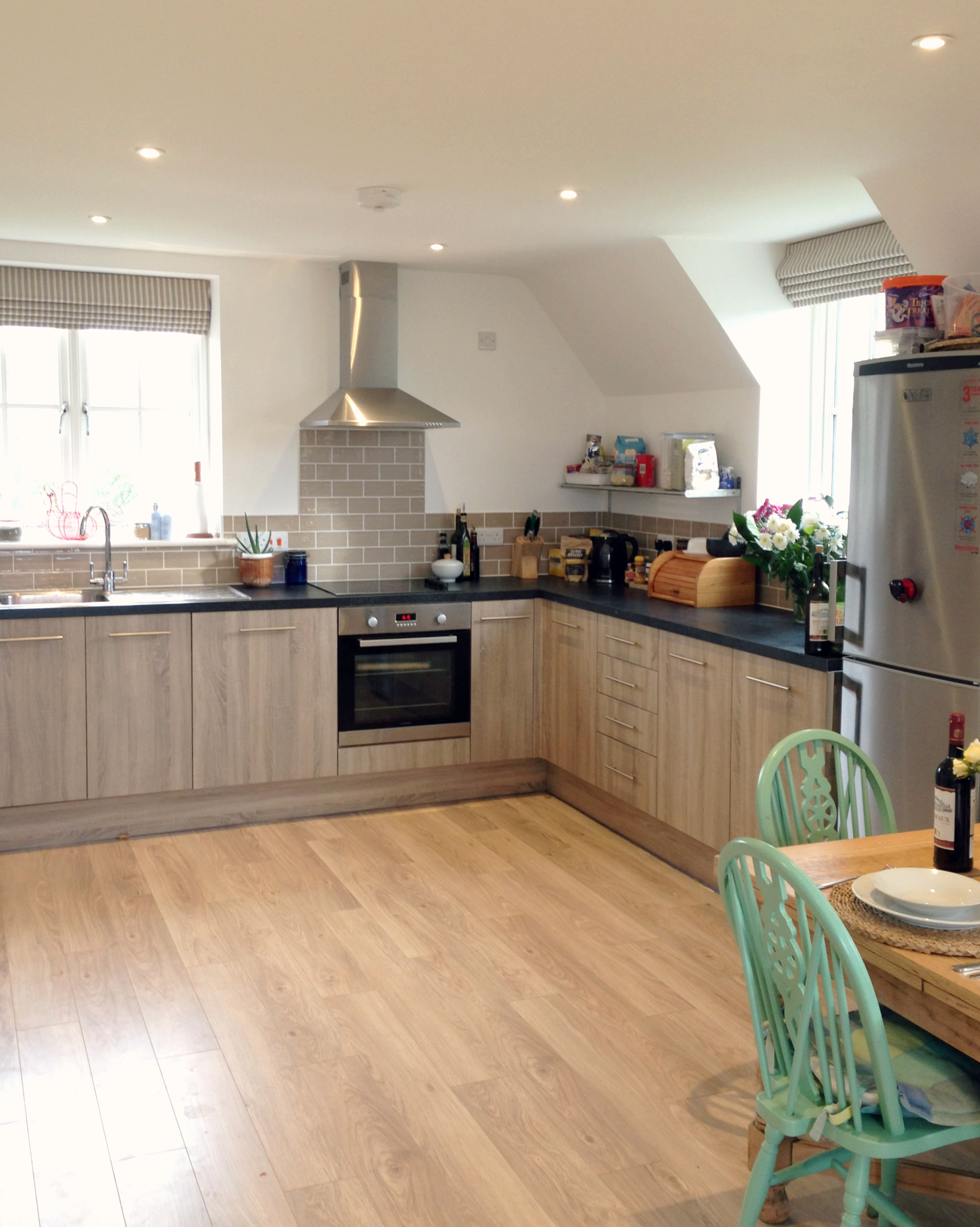 High-spec open plan kitchen