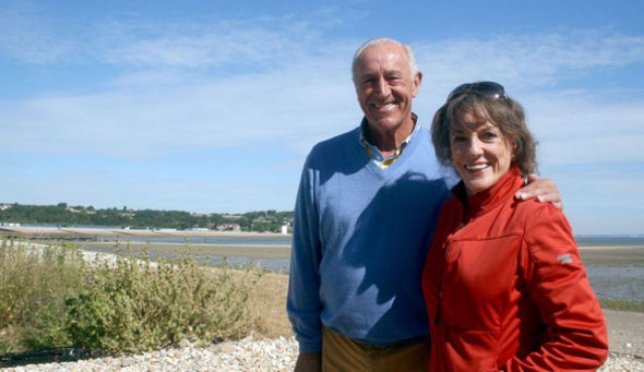 Esther and Len soaking up the Isle of Wight sun...