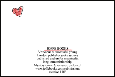 Our ad in the The London Review of Books