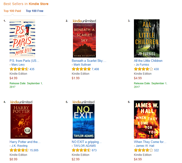 no 5 best seller in the USA -