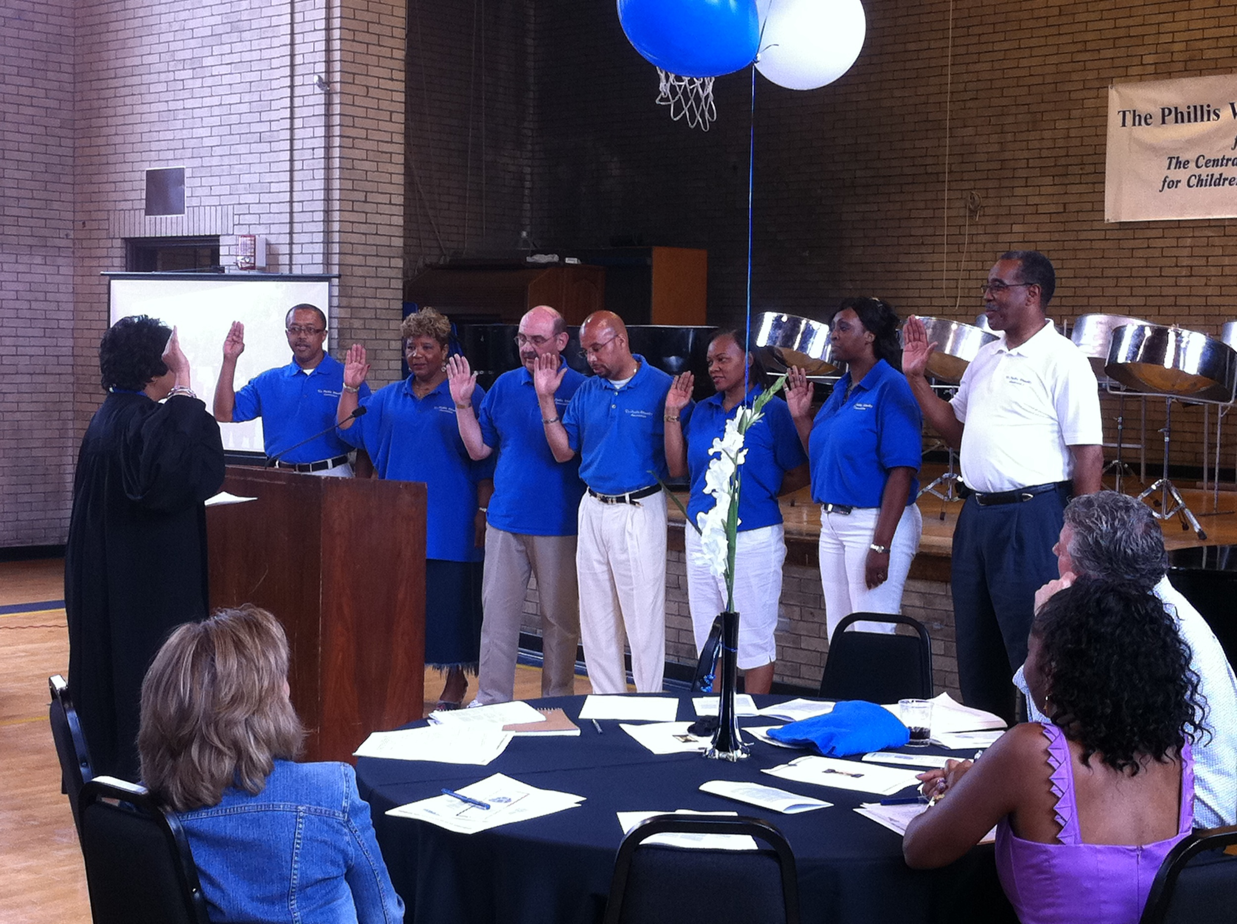 Judge Alison Floyd Swears in Board Members.JPG