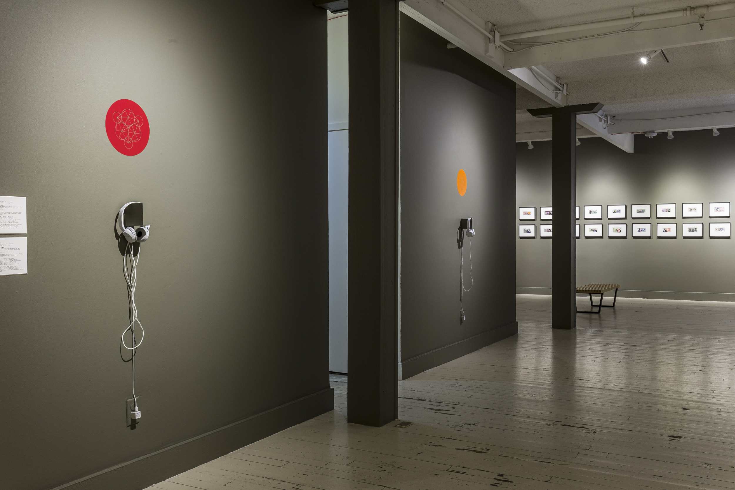 RAGA/CHAKRA installation view (first and second phases of six). Image courtesy Boulder Museum of Contemporary Art. Photo Richard A. Peterson