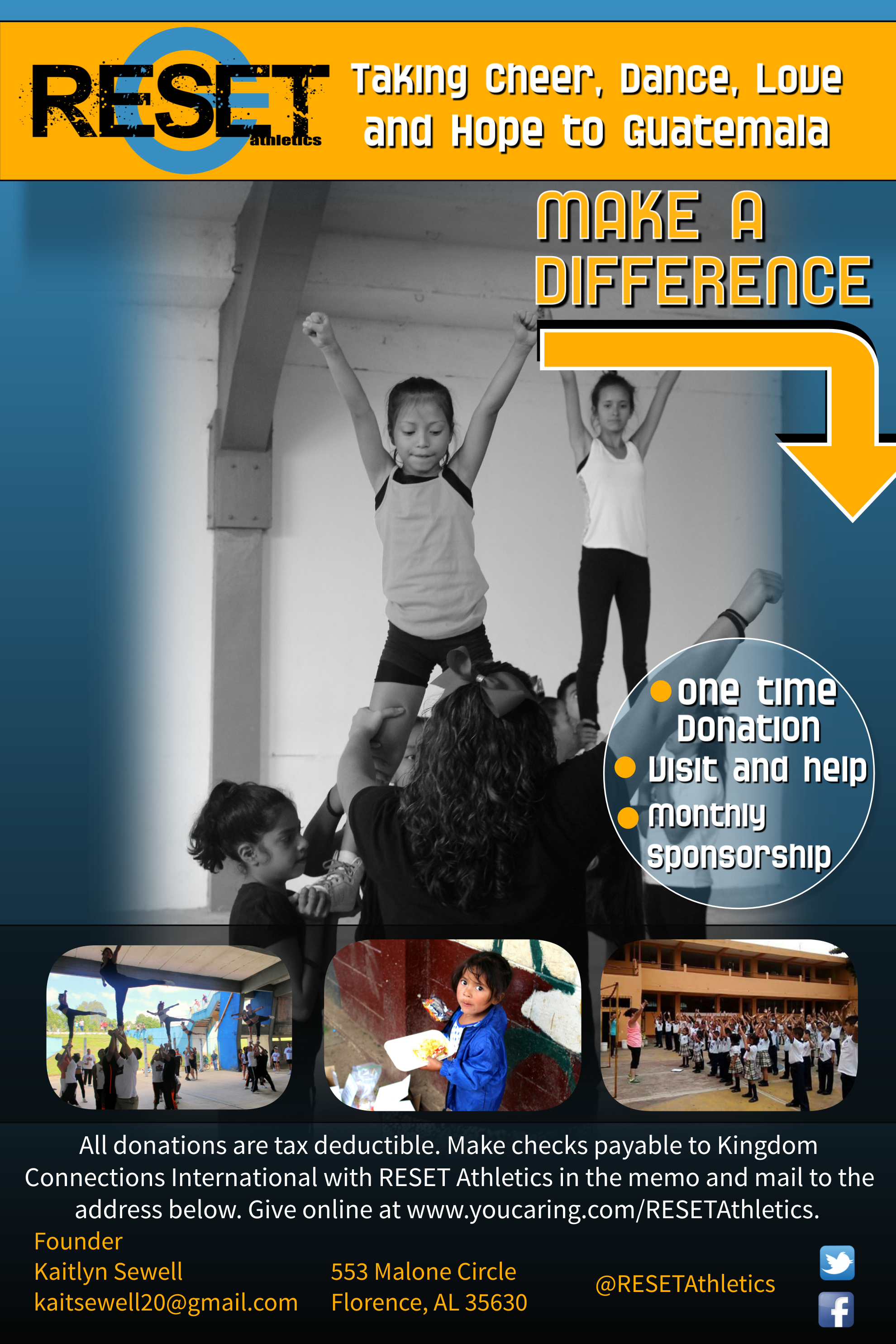 RESET CHEERLEADING MINISTRY FOR JESUS CHRIST IN GUATEMALA