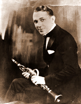 Legendary jazz clarinetist and jazz composer, Leon Roppolo, a founding member of the New Orleans Rhythm Kings,  (1902-1943).