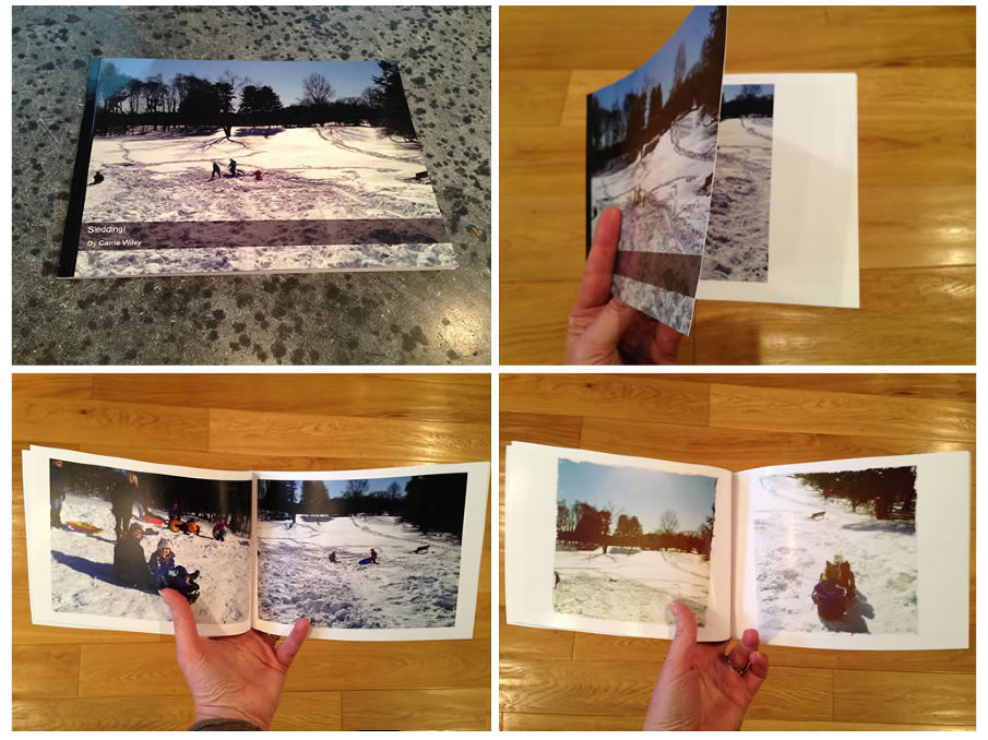 From the website and within the iOS apps you can create simple 20-photo soft cover 5x7 books for $6.99 including shipping. This is a fun way to relive the moment off screen. The kids really love them!