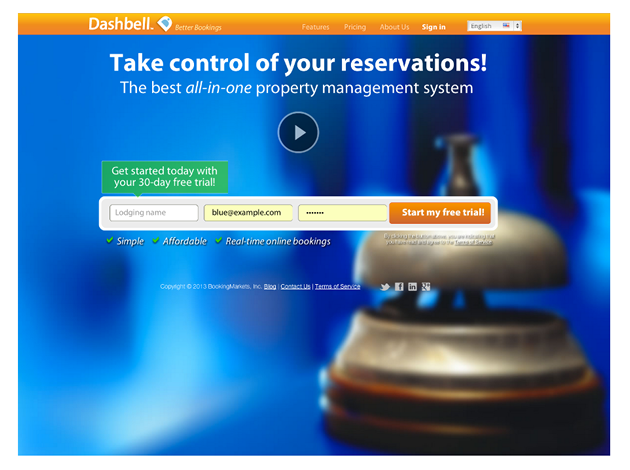Dashbell   Online booking SAAS system