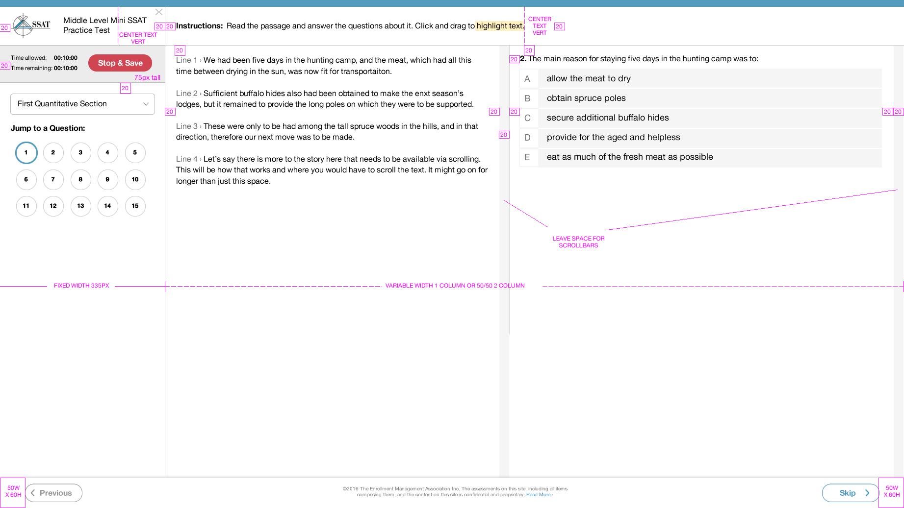 Example responsive spec