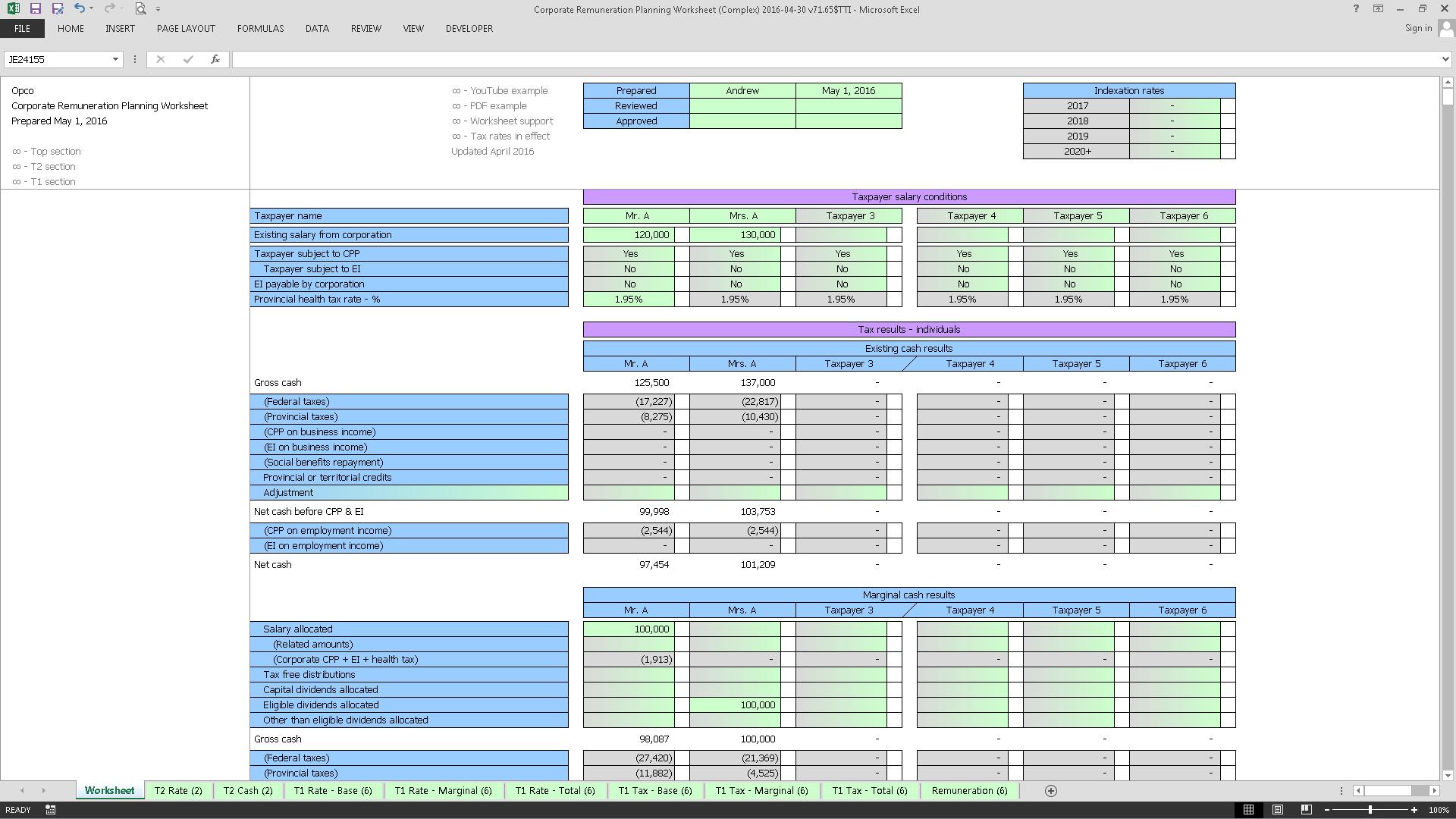 Corporate Remuneration Planning Worksheet (Complex) 2016-04-30 v71.65$TTI_Cover.png