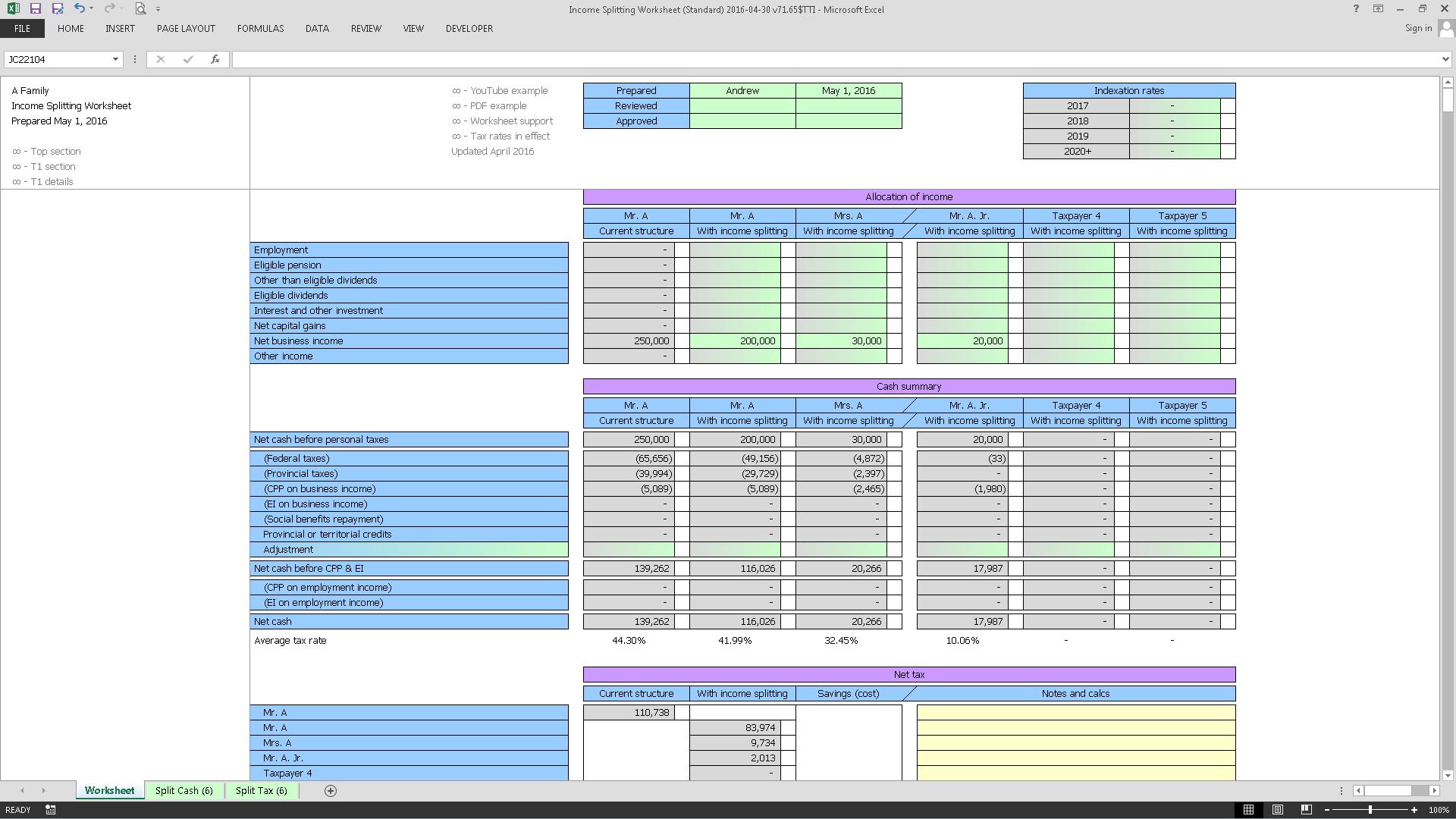 Income Splitting Worksheet (Standard) 2016-04-30 v71.65$TTI_Cover.png