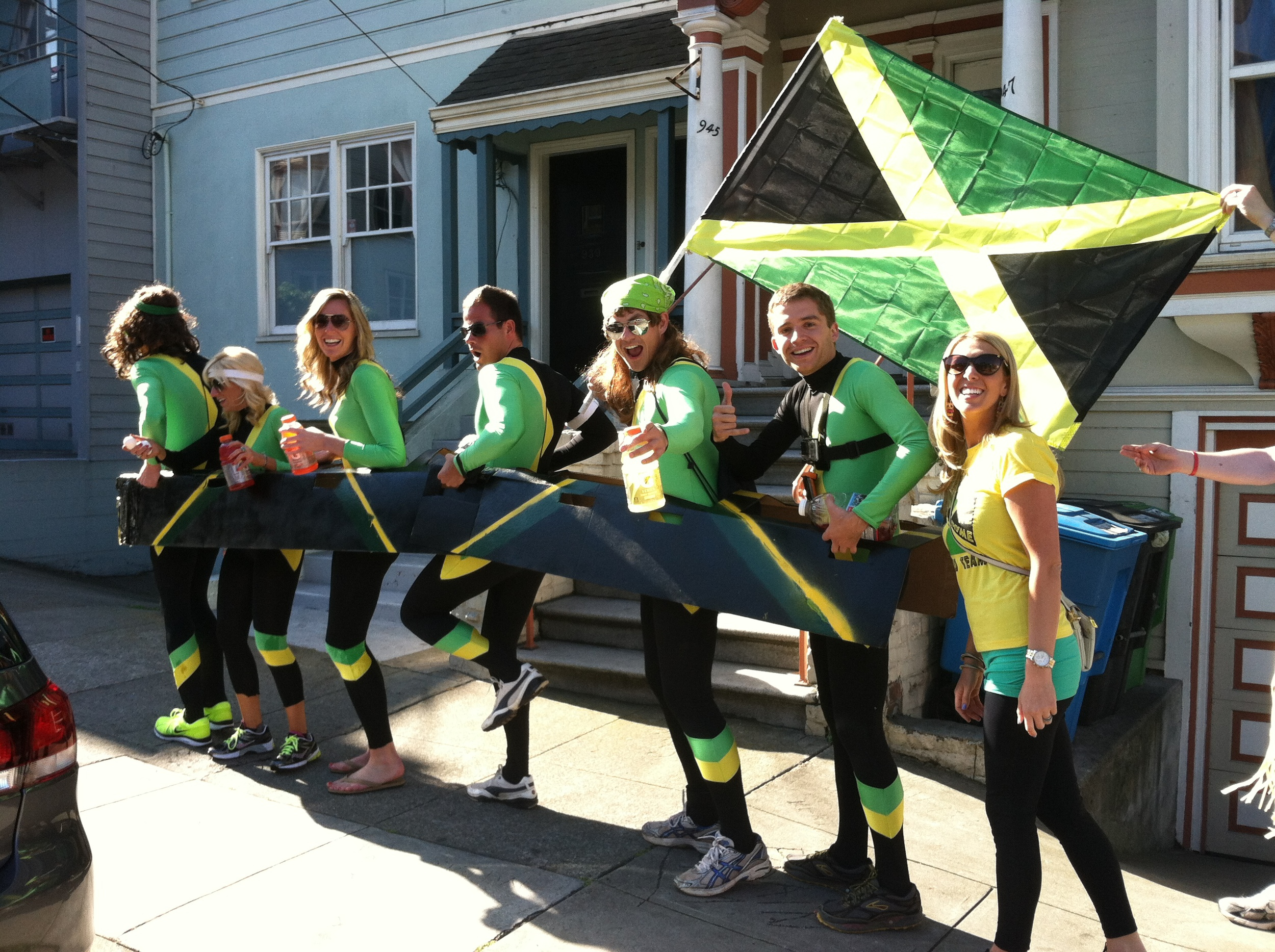 Jamaican Bobsled team!