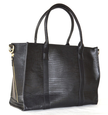 This is the Juno Blu bag I reviewed the, Esalen Tote in Black Lizard.