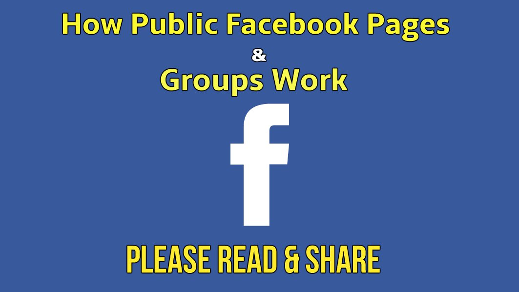 How Public Facebook Pages & Closed groups Work