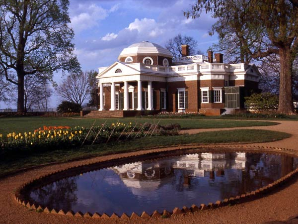 Monticello's West Front and pond