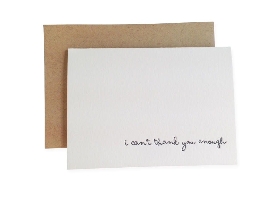 Thank You Card by  Ink Meets Paper