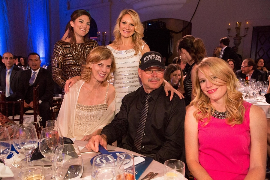 Sarah, Carolyn and Tish (Richard's Angels) with Dean Pollak and Richard (founder of the  Hotes Foundation  )