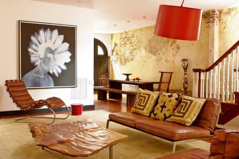 Dean Pollak's Front Entry & Informal Living Room