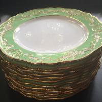 antique dinner plates...