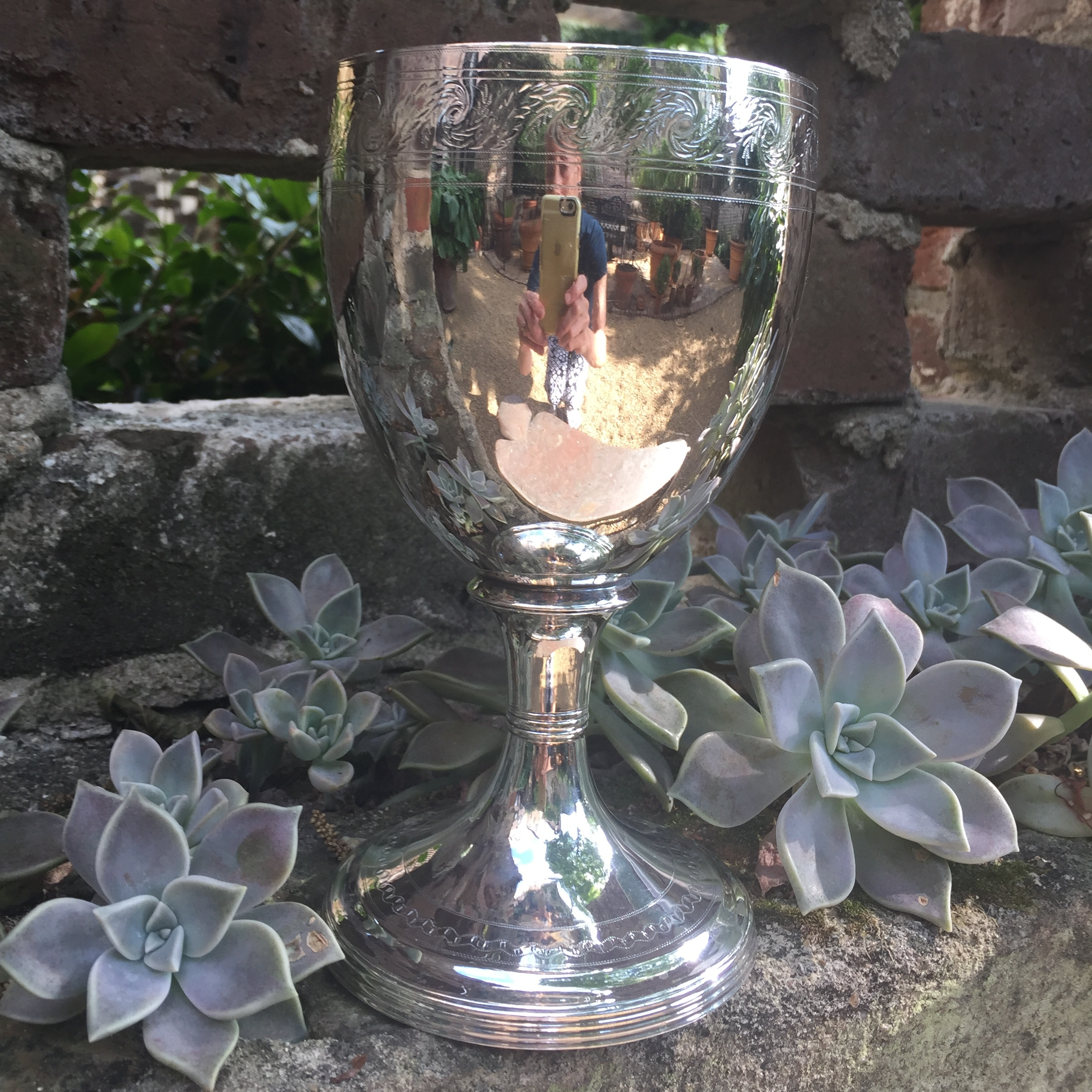 & a silver chalice, to reflect it all.