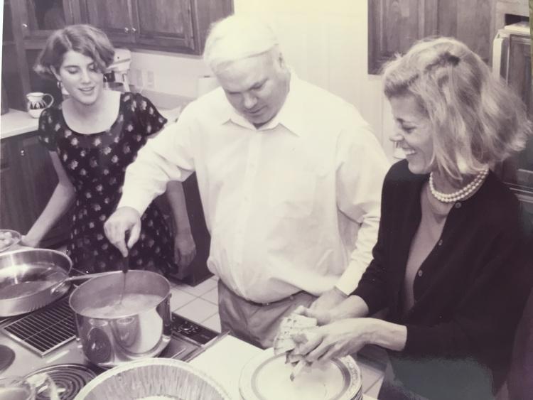 Caroline Pollak, Pat Conroy, and Suzanne Pollak.