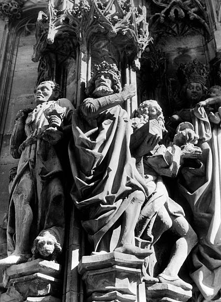 Three Wise Men at Strassbourg Cathedral, Germany (c. 1940)