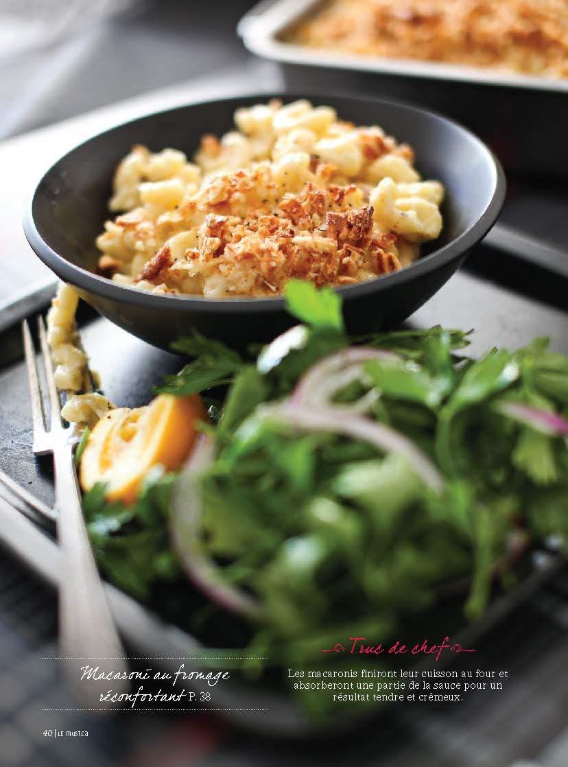 Macaroni au fromage réconfortante