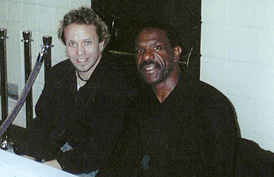 "Grant with Andre Dawson, ""The Hawk"""
