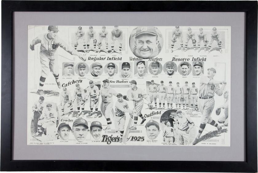 1925 Detroit Tigers Original Photograph Display.