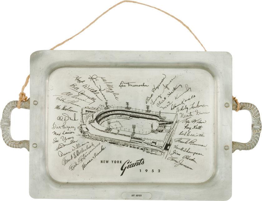 1952 New York Giants Presentation Tray.