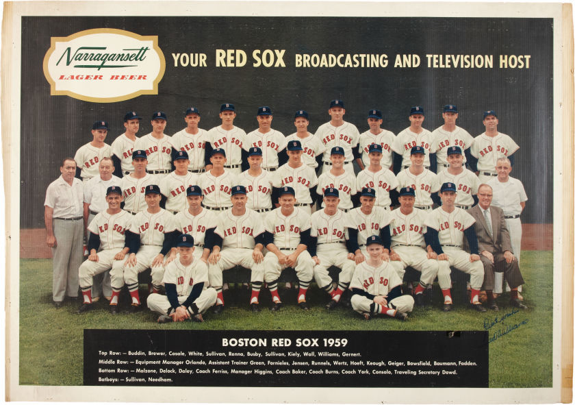 1959 Boston Red Sox Team Huge Poster Signed by Ted Williams