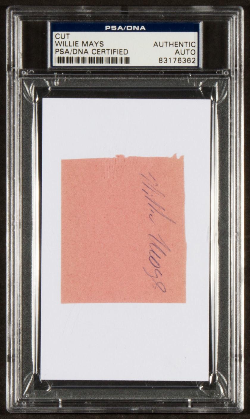 Willie Mays Cut Signature PSA Encapsulated.