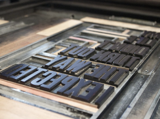 "Image of the letterpress ""My Life Didn't.."""