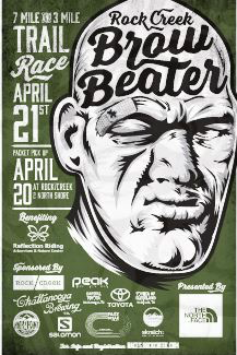Rock/Creek Brow Beater Trail Race   7 Miler   3 Miler