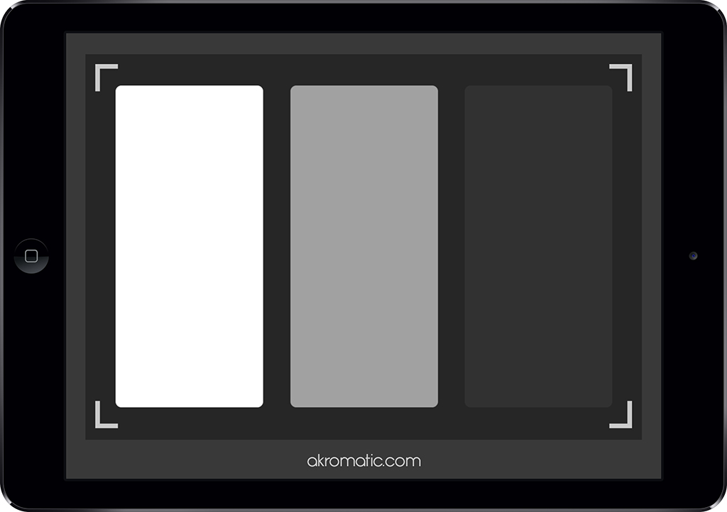 White Balance checker para iPad mini.