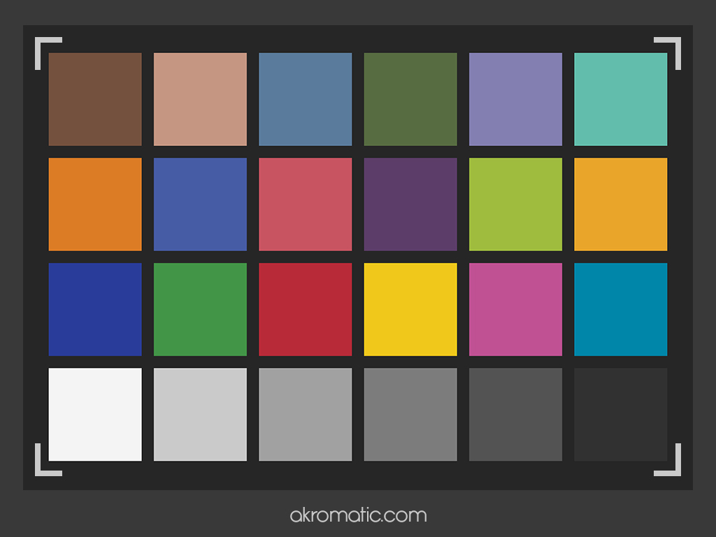 Colour checker para iPad mini.