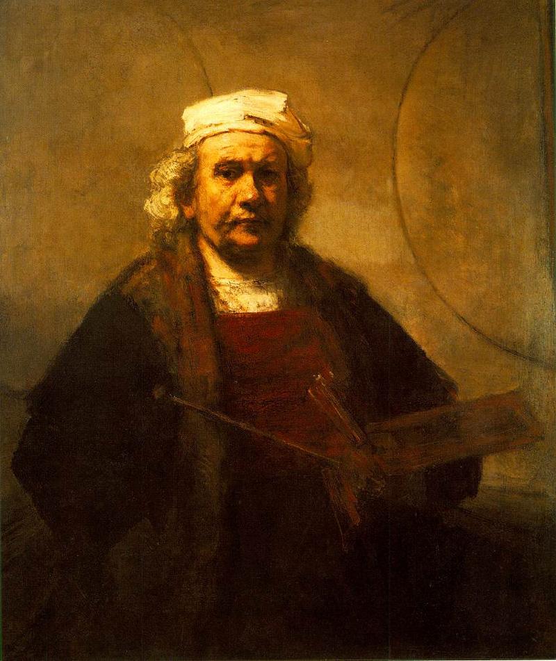 Self Portrait by Rembrandt van Rijn (circa 1661)