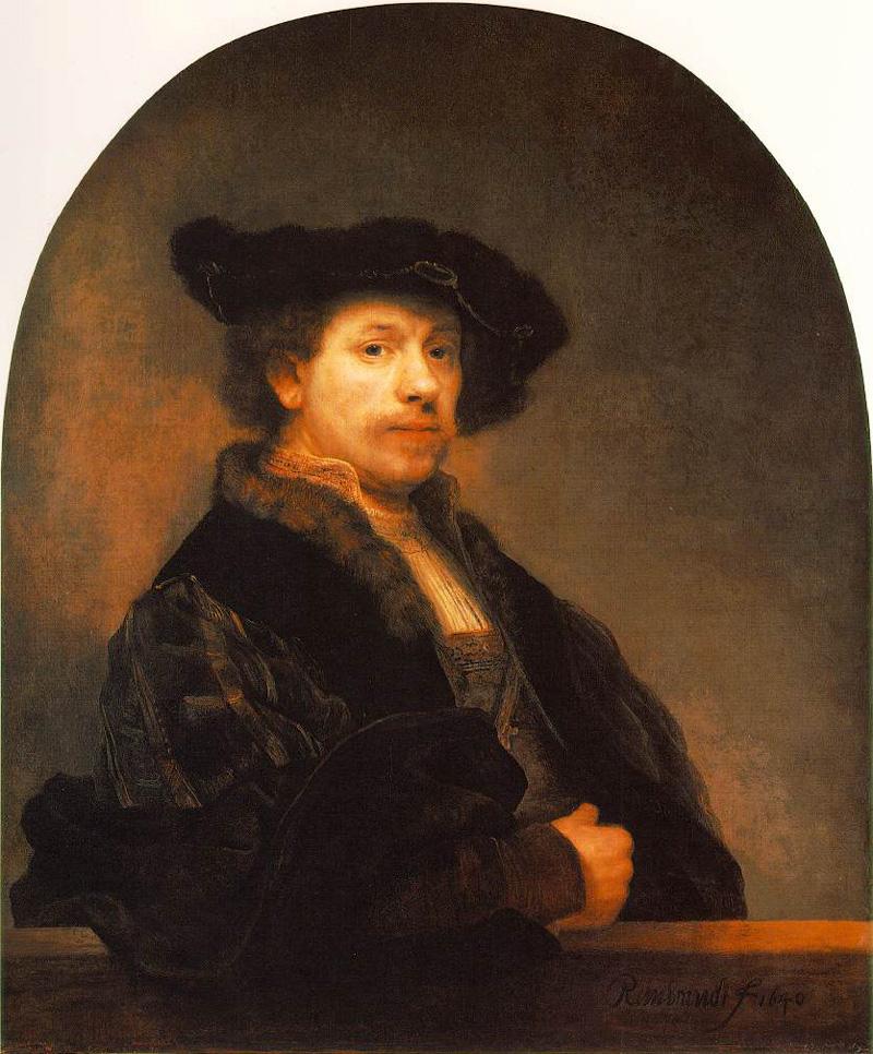 Self Portrait by Rembrandt van Rijn (circa 1640)
